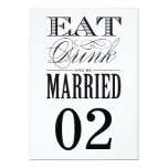 "Be Married | Table Numbers 5"" X 7"" Invitation Card"