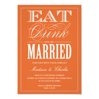 "& BE MARRIED | WEDDING INVITATION 5"" X 7"" INVITATION CARD"