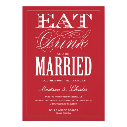 & BE MARRIED | WEDDING INVITATION