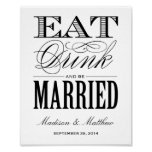 Be Married   Wedding Reception Sign Posters