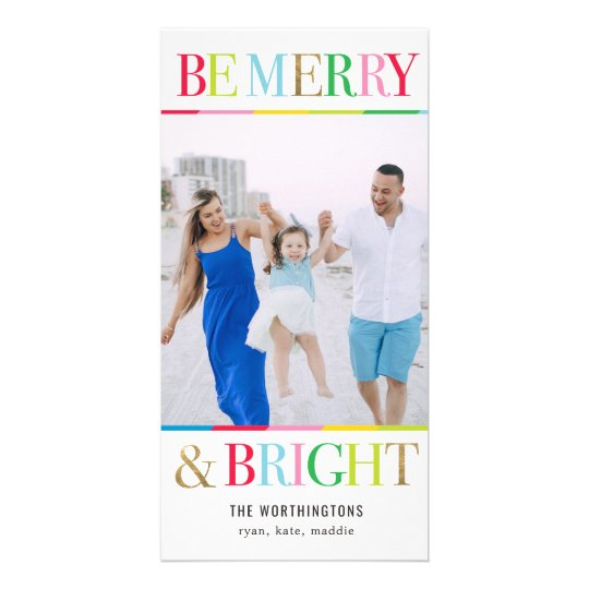 Be Merry Be Bright Holiday Photo Card