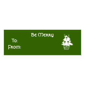 Be Merry Double-Sided Mini Business Cards (Pack Of 20)