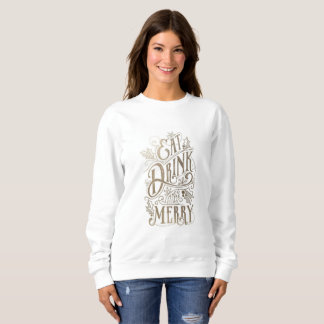 'Be Merry' Christmas Jumper Sweatshirt