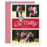 Be Merry Classic Multi-Photo | Holiday Photo Card 13 Cm X 18 Cm Invitation Card