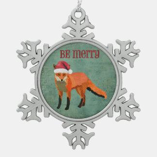 Be Merry Fox Ornament
