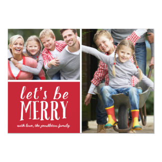 Be Merry | Holiday Photo Card 13 Cm X 18 Cm Invitation Card