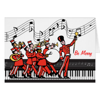 Be Merry Marching Band and Musical Notes Christmas