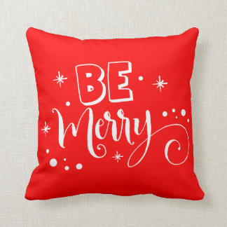 Be Merry Red Christmas Pillow