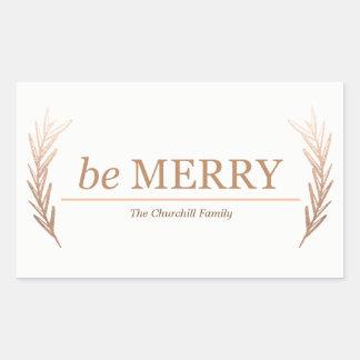 be Merry Season sticker