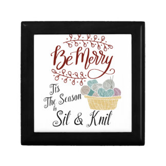 Be Merry Tis the Season to Sit and Knit Gift Box