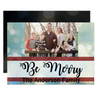 Be Merry | Twinkle Lights | Photo Christmas Card