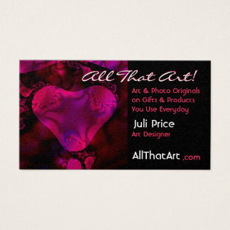 """Be Mine"" Abstract Heart Business Card"