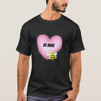 Be Mine Bumblebee with Pink Puffy Heart T-Shirt