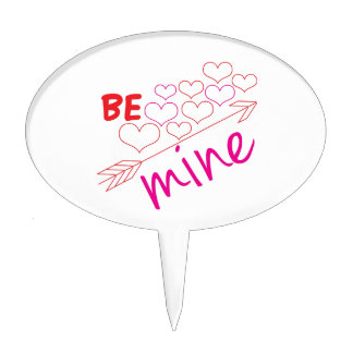 Be Mine Cake Toppers