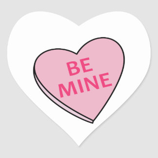 BE MINE CANDY HEART HEART STICKER