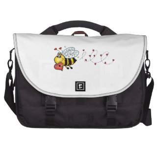 Be mine - Cute Bee holding a heart Bag For Laptop