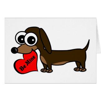 Be Mine Cute Dog Valentine s Day Card