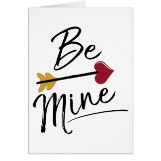 Be mine Cute Valentines Card