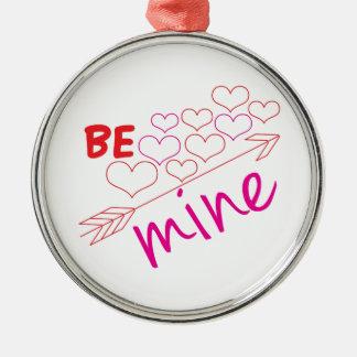 Be Mine Silver-Colored Round Ornament