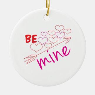 Be Mine Round Ceramic Ornament