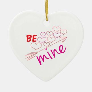 Be Mine Ceramic Heart Ornament