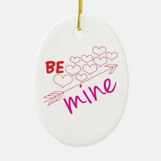 Be Mine Ceramic Oval Ornament