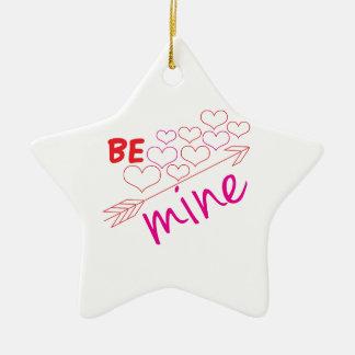 Be Mine Ceramic Star Ornament