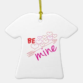 Be Mine Ceramic T-Shirt Ornament