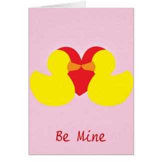 Be Mine - Ducks Card