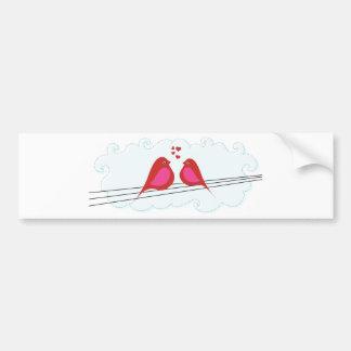 Be Mine, Happy Valentine's Day Birds Bumper Sticker