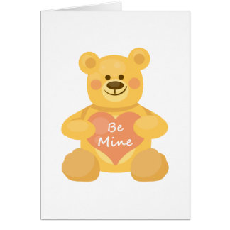 Be Mine Heart Bear Card