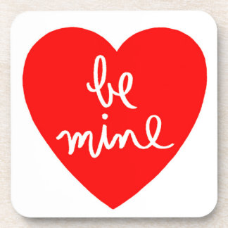 Be Mine Heart Beverage Coasters