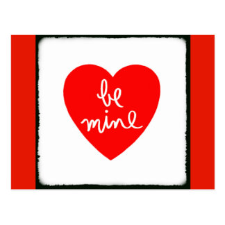 Be Mine Heart Postcard