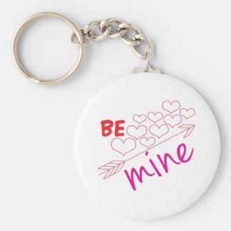 Be Mine Basic Round Button Key Ring