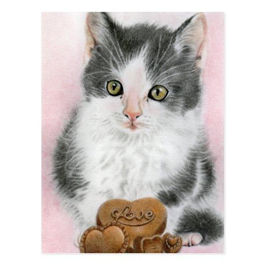 Be mine kitty cat Postcard