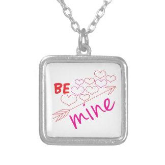 Be Mine Square Pendant Necklace