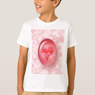 BE MINE OVAL RED HEARTS by SHARON SHARPE T-Shirt