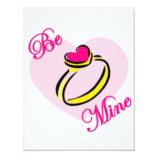 Be Mine - Ring Personalized Invite