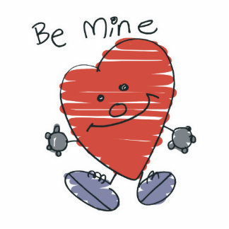 Be Mine Scribbles Heart Photo Cut Out