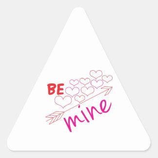 Be Mine Triangle Sticker