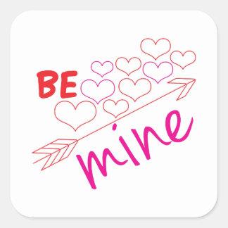 Be Mine Square Sticker