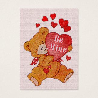 Be Mine Teddy Bear Valentine Mini Kids Cards