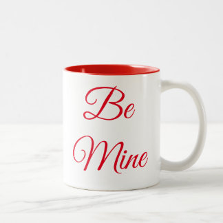 Be Mine Valentine drinking mug
