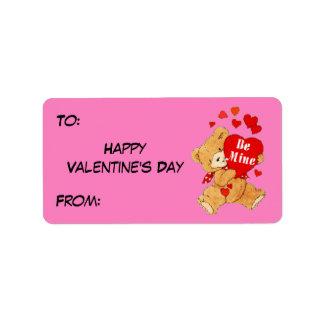 Be Mine Valentine Teddy on Pink Label