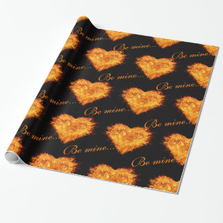 Be mine valentine's day gift wrapping paper