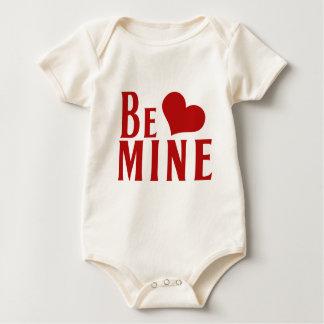 Be Mine Valentines Day Heart Baby Bodysuit