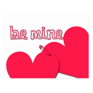 Be Mine Valentine's Day Modern Greeting Postcard