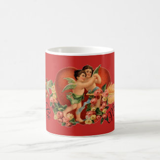 """Be Mine!"" Vintage Valentine's Cherubs Coffee Mug"