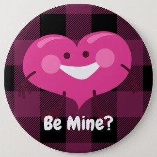 Be Mine? | Whimsical Heart | Valentine 6 Cm Round Badge