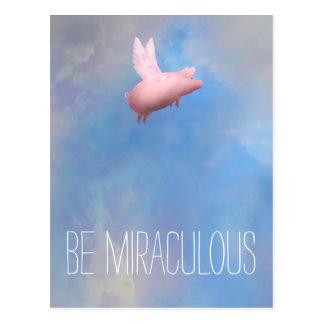 Be Miraculous Postcard